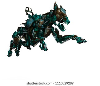 green guard dog is  a security system 3d illustration