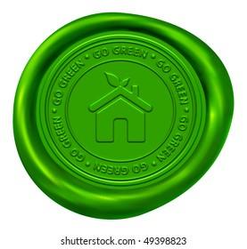 Green Home Sign - Go Green Wax Seal