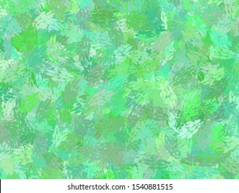 Green Jungle theme watercolor paint fabric wool fur pattern, Feather texture carpet design luxury abstract for use as a background or paper element scrapbook. creative by using photoshop brush.