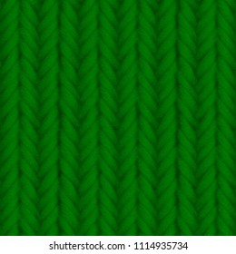Green knitted seamless texture. 3D illustration
