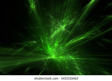 Green laser show at a party