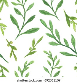 green leaf illustration, seamless pattern