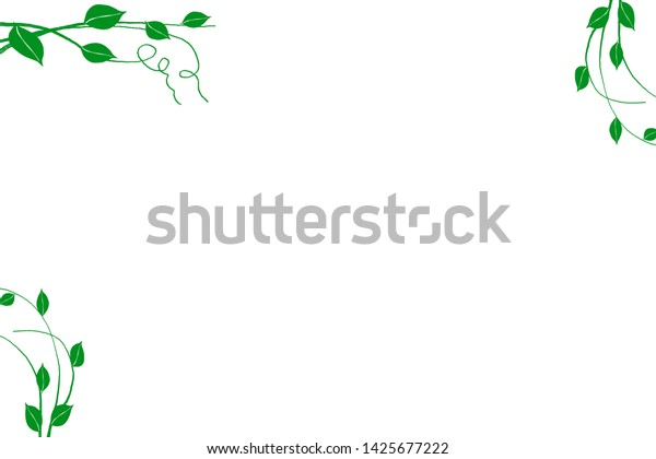 green leaves nature frame border copy stock illustration 1425677222 shutterstock