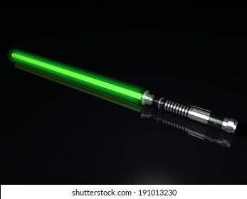 green light sword 3d