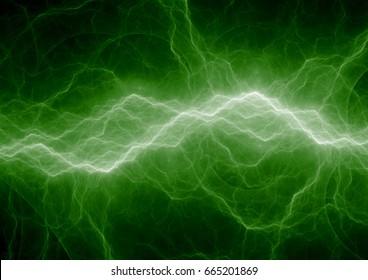 Green lightning strike, green energy