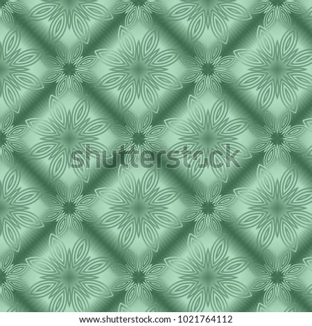 Green Metallic Regular Seamless Pattern Metal Stock Illustration