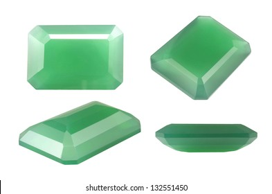 Royalty Free Stock Illustration Of Green Natural Chalcedony Octagon