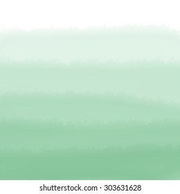 Green Ombre Watercolor Background