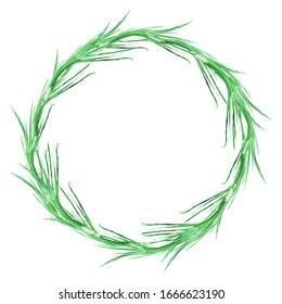 green onion vegetables watercolor illustration hand-drawn wreath border isolated on white background. design elements and greeting cards