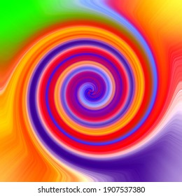 green orange red blue yellow twirl abstract background.Abstract art background.Modern art background . oil on canvas .shiny art texture circle shiny multicoloured