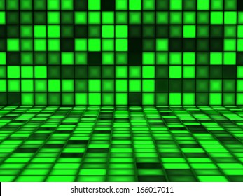 Green pattern made out of Light Cubes