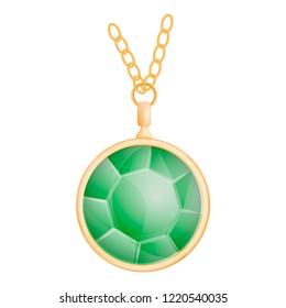 Green peridot mockup. Realistic illustration of green peridot mockup for web design isolated on white background
