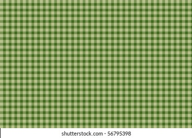 Green plaid gingham background - seamless texture