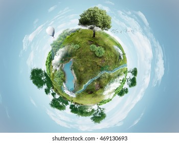 green planet, 3D illustration