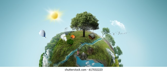 green planet; 3d illustration