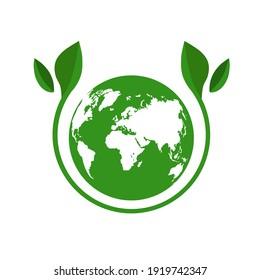 Green Planet Logo Illustration Ecology