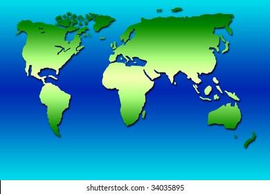 Green planisphere