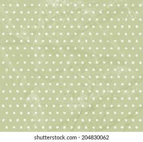 Green polka dot pattern