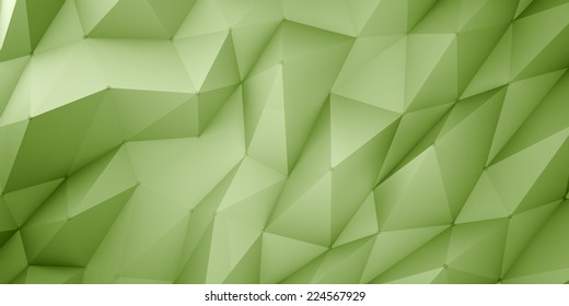 green polygonal background with dots