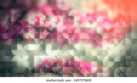 Green Purple and White Abstract Quarter Circles Background Image