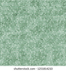 Green Rectangle Slates Tile Pattern Repeat Background that is seamless and repeats 3D Illustration