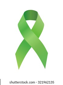 Green ribbon Scoliosis Awareness, traumatic brain injury awareness, Mental health awareness,  celiac disease, Lyme disease, organ transplant and donation awareness, pedestrian safety awareness