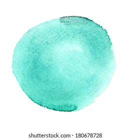 Green round watercolor brush stroke - space for your own text