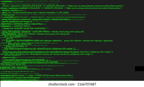 Green screen coding hacker concept animation with glitch. Programming code typing error. Big data and Internet cyber attack. Programming code abstract. Blockchain concept, computer digital code