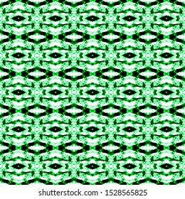Green seamless portuguese ethnic tiles azulejos. Ikat spanish tile pattern. Italian majolica. Mexican puebla talavera. Moroccan,Turkish floor tiles. Ethnic tile design. Tiled texture for flooring.