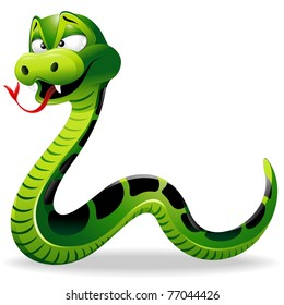 Green Snake Cartoon