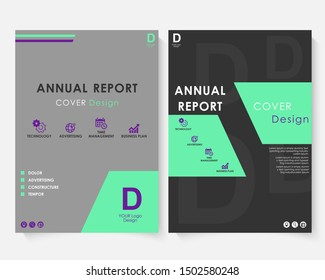 Green square annual report cover design template . Brochure concept presentation website portfolio. Black layout leaflet template. Magazine business advertising set. Poster A4 size. Graphic