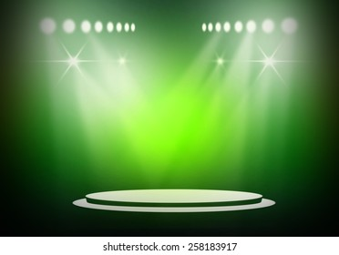 Green stage light background