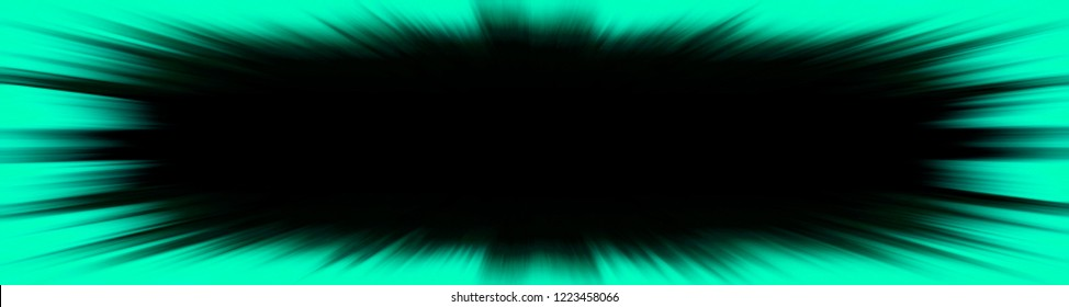 Green starburst explosion banner with a black copy space centre