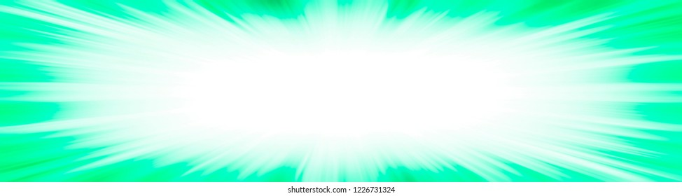 Green starburst explosion border frame with a white copy space centre