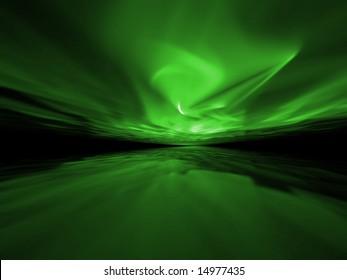 Green Storm - 3D fractal illustration