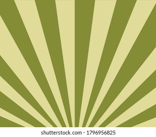 a green sunbrust or fan light pattern background in green and beige colours