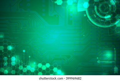 Green technology background and abstract digital tech circle.copy space.