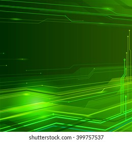 Green technology background.Abstract illustration.