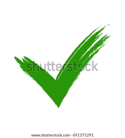 Green Tick Green Check Mark Tick Stock Illustration 691375291