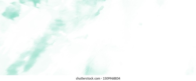 Green Tie Dye Background. Blurred Invitation Card. Frost White Spot Brushstroke.  Cabbage Retro Tiedye Pattern. Jade Fantasy Ink Mix. Colorful Paint Border.