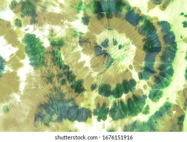 Green Tie Dye Colored Washes. Green Modern Watercolour Fabrics. Aquarelle Brush Textures. Tie Dye Dirty Watercolour. Retro Craft Messy Texture. Green Indonesian Aquarel Decor.
