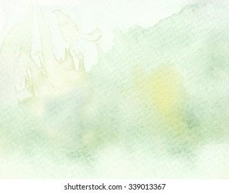 green tones watercolor background