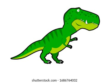 Green T-rex that roam in the last centuries