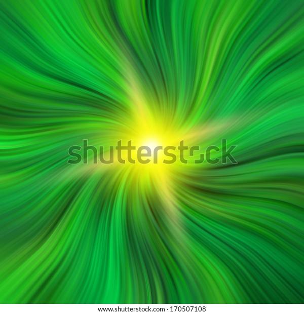 Green Vortex with a gold star burst