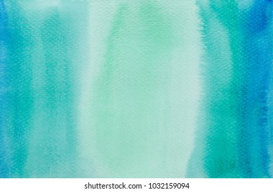 green watercolor background.painting on paper hand drawn.