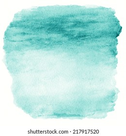 Green Watercolor Ombre Background. Watercolor Wash top abstract frame beautiful colors