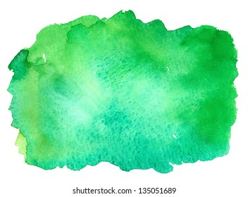 green watercolor rectangle