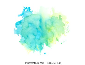 green watercolor stain shades paint stroke background