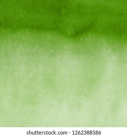 Green watercolor texture with abstract washes and brush strokes on the white paper background.