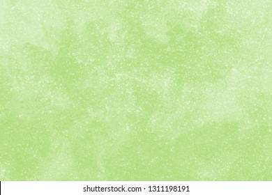 Green watercolor texture on the white isolated background. Chaotic stylish abstract organic design.
